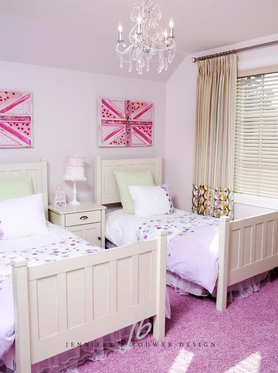 Kimbark children's bedroom designed by Jennifer Brouwer Design. #jbd #intdesign #bedroom #customdesign