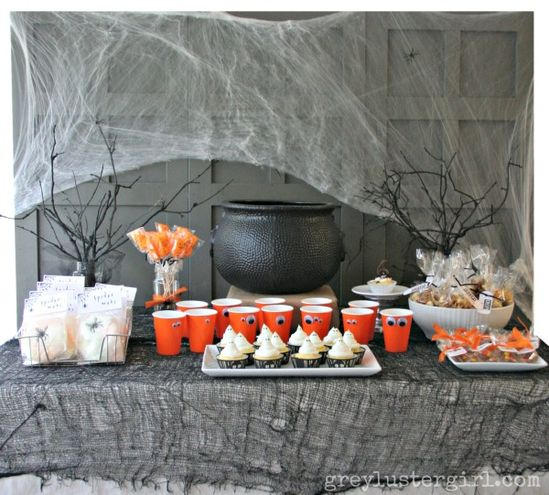halloween party - dessert table