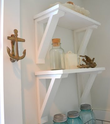 longer shelves like this about our powder room toilet