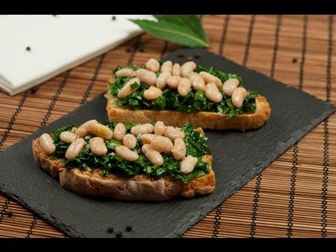 Great Italian Bruschetta Recipe with Black Kale and Beans, Cooking Recipes Blog