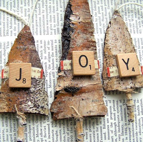 rustic christmas ornaments - Google Search