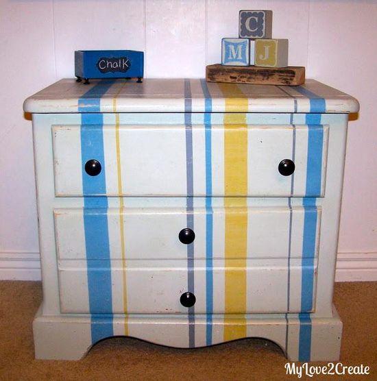 DIY Furniture : DIY Happy Stripes