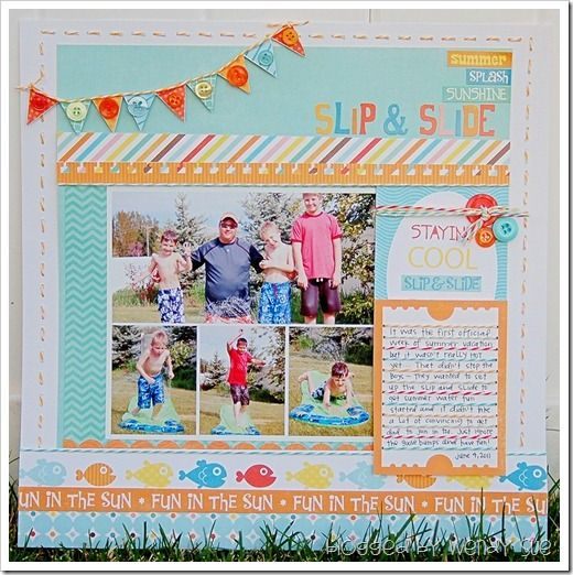 love this scrapbook page layout