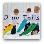 Dress-up dinosaur tails. Perfect little boy gift idea!