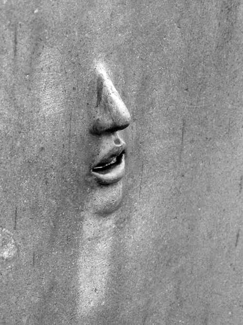 ? cement sculpture face #street art #graffiti