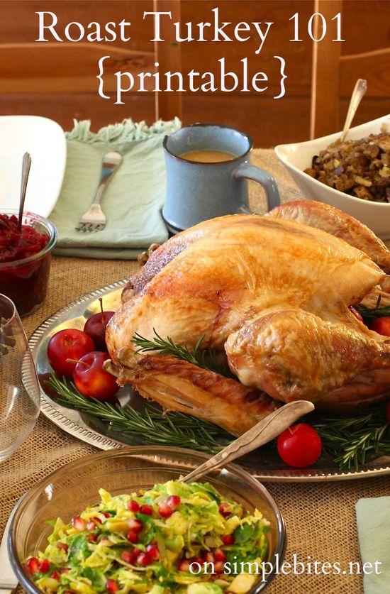 How to roast a turkey {simply}. A printable tutorial.