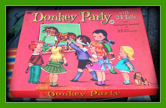 1960's Pin the tail on the donkey; always at birthday parties.