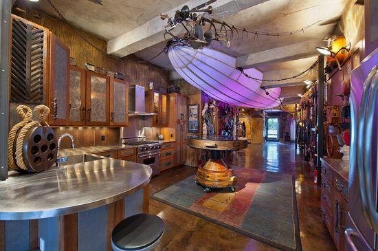 Kitchen design amazing steampunk apartment in chelsea house design