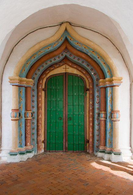 Layered Green Door