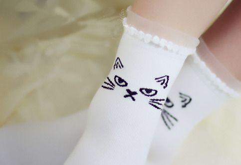 grumpy cute cat socks