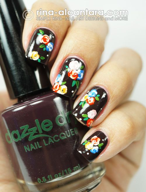 floral nail art (check out the nail art blog it links to...)
