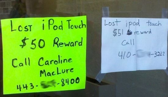 lost ipod tough, funny signs, funny photos