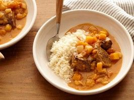 African Peanut Stew (Mafe) : Recipes : Cooking Channel