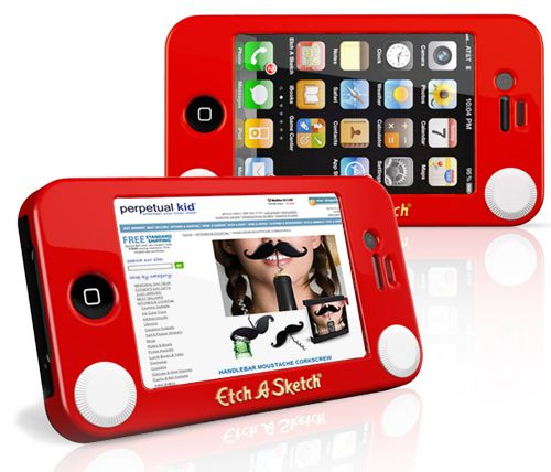 iPhone Etch-A-Sketch Case.  When I get an iPhone, this is so mine.