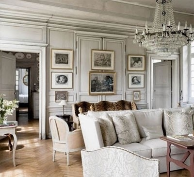 Normandy chateau: interior design by Charles Spada