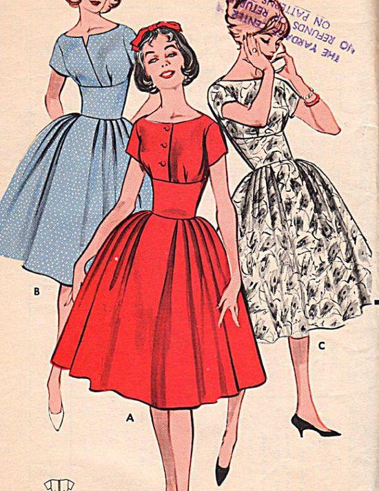 Butterick Pattern 9265  Misses Dress  1960 Vintage  by allpatterns, $18.95