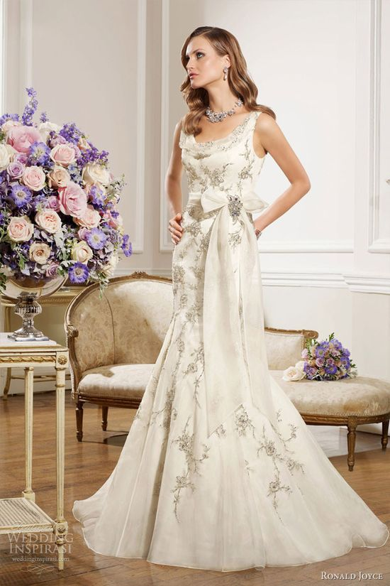 ronald joyce bridal 2013 sleeveless wedding dress