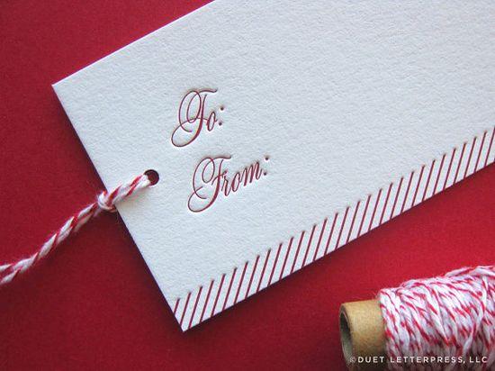 letterpress gift tags // by duet letterpress