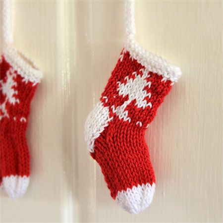 FREE SHIPPING Mini Christmas Stocking Decoration Hand Knitted Gift - Handmade Gift Ideas for Christmas from Handmade HQ