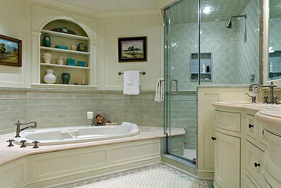 Beautiful and Relaxing Bathroom Design Ideas - half wall shower