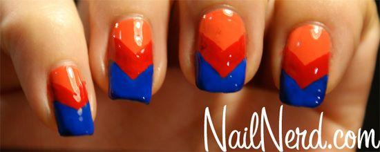Chevron nails