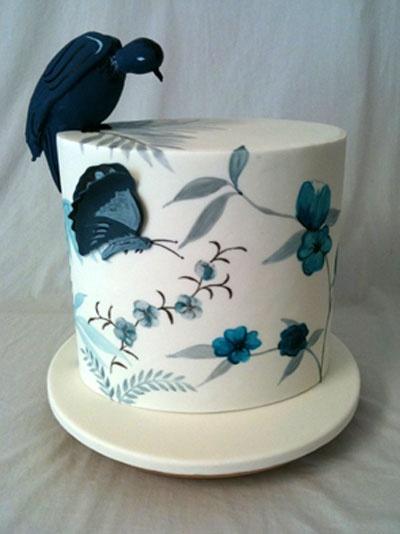 Handpainted #wedding #cake