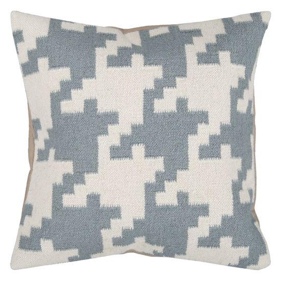 Surya Houndstooth Decorative Pillow - Slate Blue
