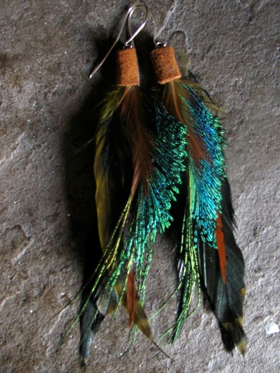 ... feather earrings