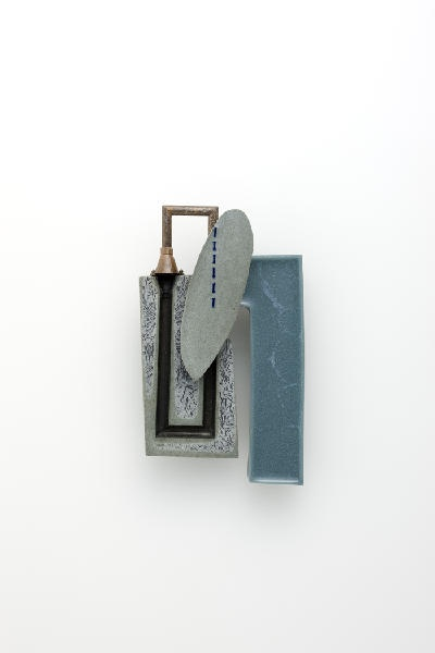 "Joohee Han | ""The scene of street "" brooch : ""hidden space"" resin, thread, brass 2011"
