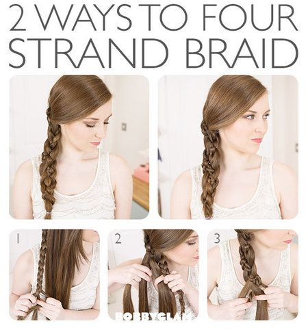 Cute 4 Strand Braid! #hair #braids #howto #fourstrandbraid #howto #tutorial - bellashoot.com