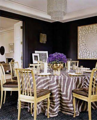 Aerin Lauder's Dining Room via Elle Decor