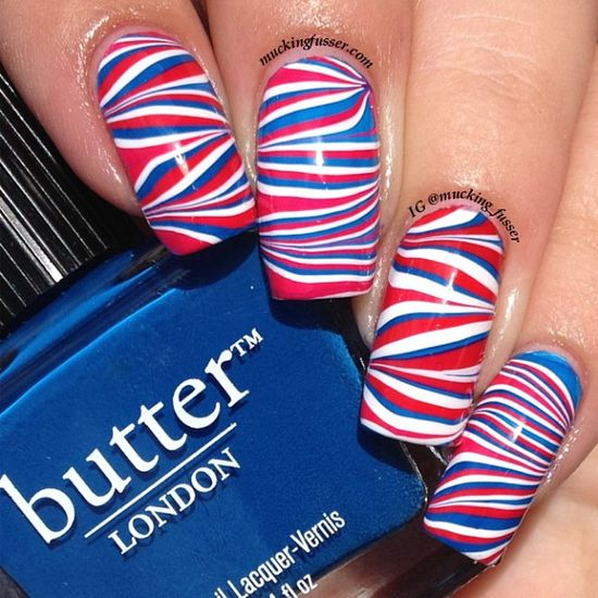 mucking_fusser's festive tips. Show us your 4th of July-inspired nails! Tag your pic #SephoraNailspotting to be featured on our social sites.