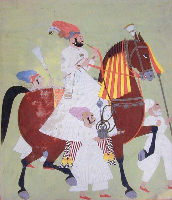 Moghul Noble On Horseback, India, 19th-20th C.: Pacific Asia Museum