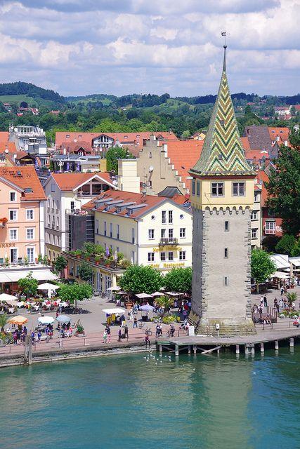 Panoramic view in Lindau, Bavaria, GERMANY    (by armxesde).