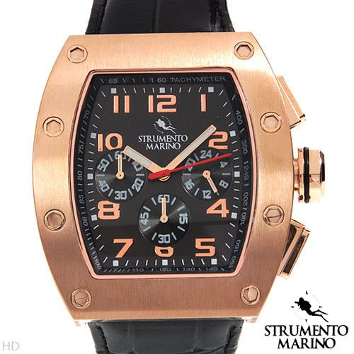 STRUMENTO MARINO SM056LRG/BK Chronograph Men's Watch