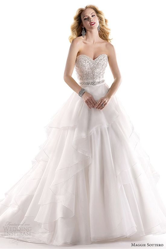 maggie sottero fall 2013 bridal raynie strapless sweetheart wedding dress