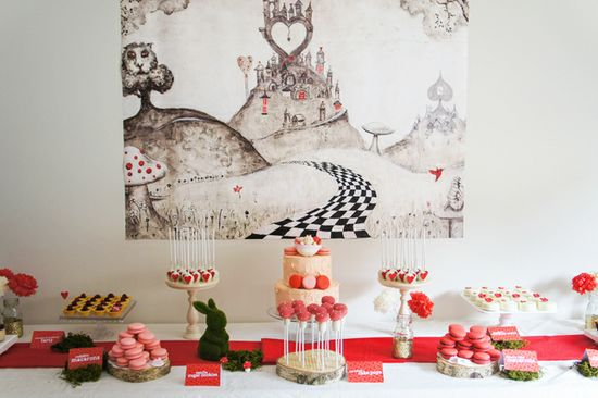 Queen of Hearts Dessert Table