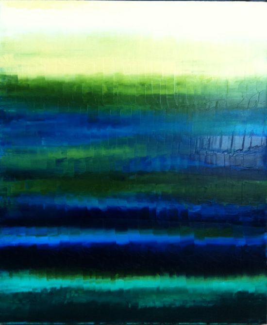 Beach Abstract Painting Abstract Ocean Art  by OriginalArtbyJen, $245.00