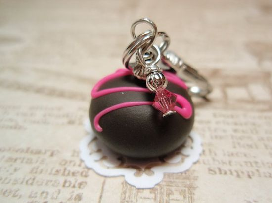 Chocolate TRUFFLE Charmer  Handmade Charm from My by mybeadgarden, $5.00