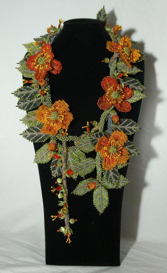La Primavera бисероплетение ожерелье носимого искусства на гей Хантли