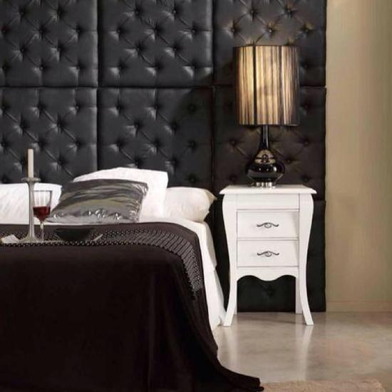 black & white bedroom!