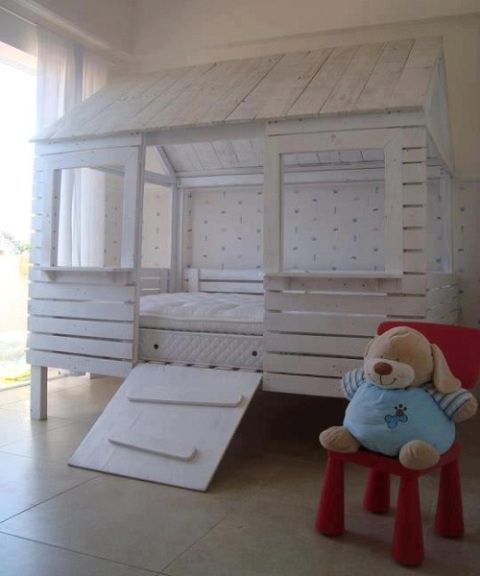 Kid's Bedroom from Used Pallets