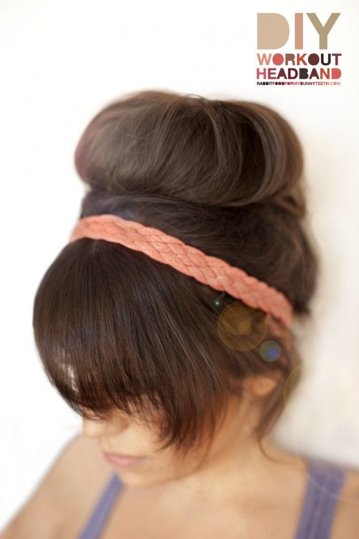 Cute DIY workout headband