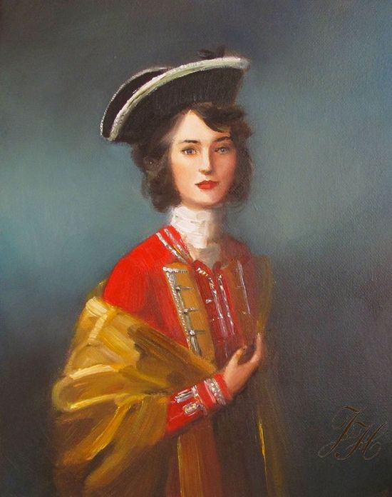 'Fair Captain,' from Janet Hill Studio. One of my favorites in her series of portraits, by far.