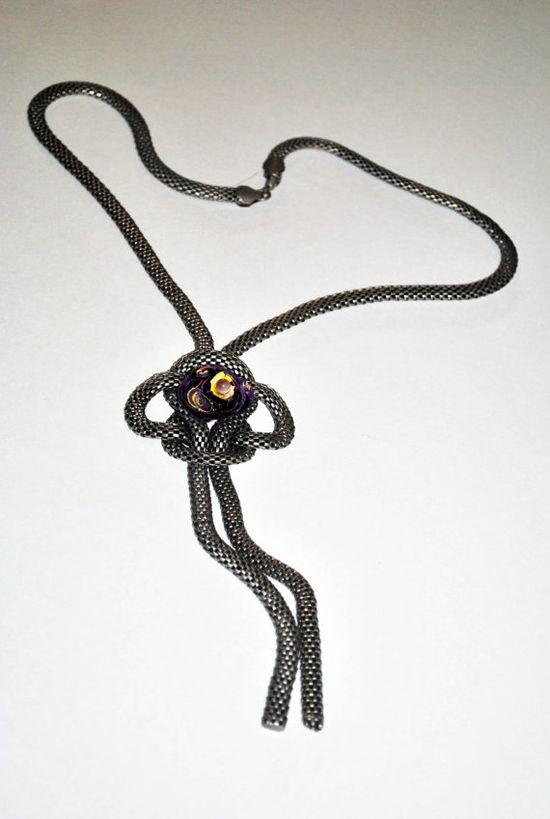 Braided Heavy PendantSilver Toned Chain by GinasCornerCrafts, $40.00