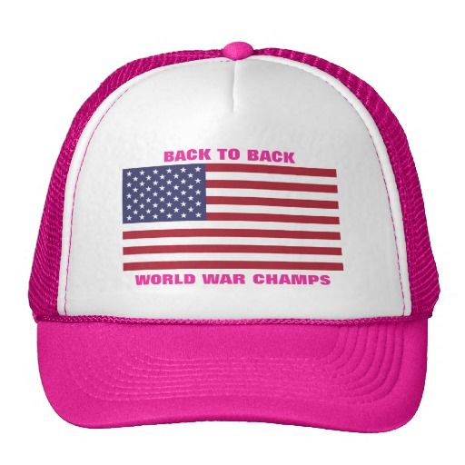 Back to Back World War Champs (Pink) Mesh Hats