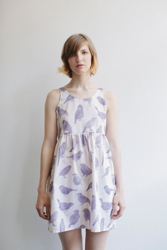 Blue Bird Dress by leahgoren on Etsy, $160.00