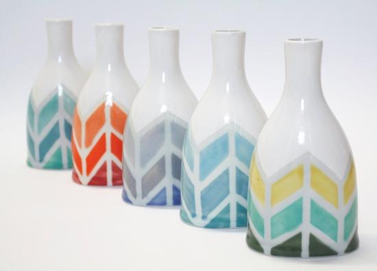 Herringbone Color-way Vase. $48.00, via Etsy.
