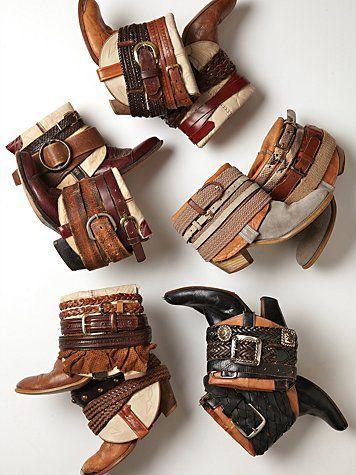 diy: belts + boots.