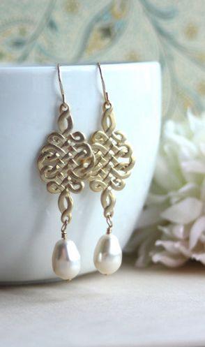 Gorgeous handmade wedding earrings
